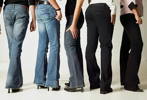 women wearing flared pants