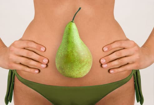 Woman with pear shape