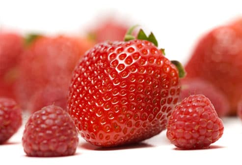 Raspberries and Strawberries