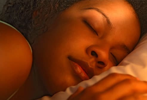 Young woman sleeping, close-up