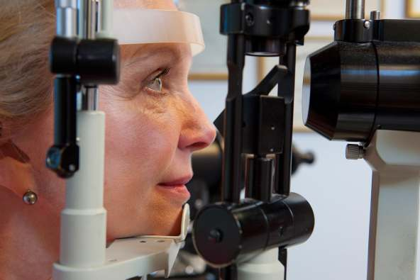 photo of eye exam