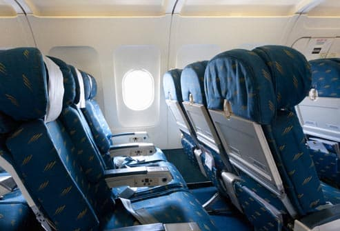 empty seats inside airline