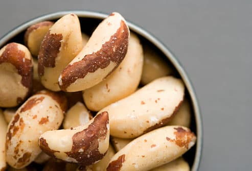 Bowl of brazil nuts