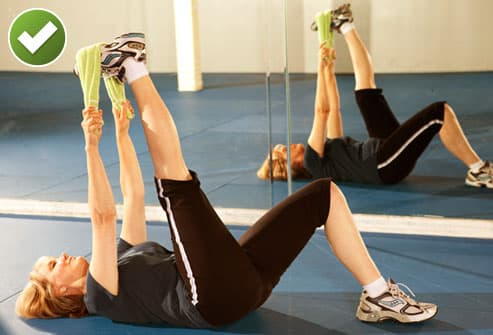 Woman Doing Hamstring Stretch