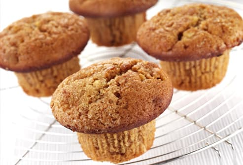 Bran Muffins on Cooling Rack