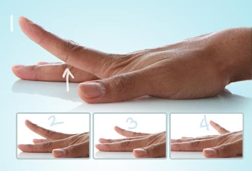 finger lifts hand exercise