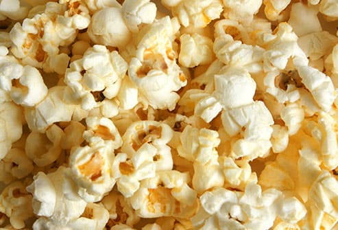 popcorn kernels close up