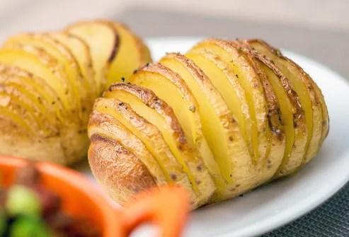 sliced roasted potatoes