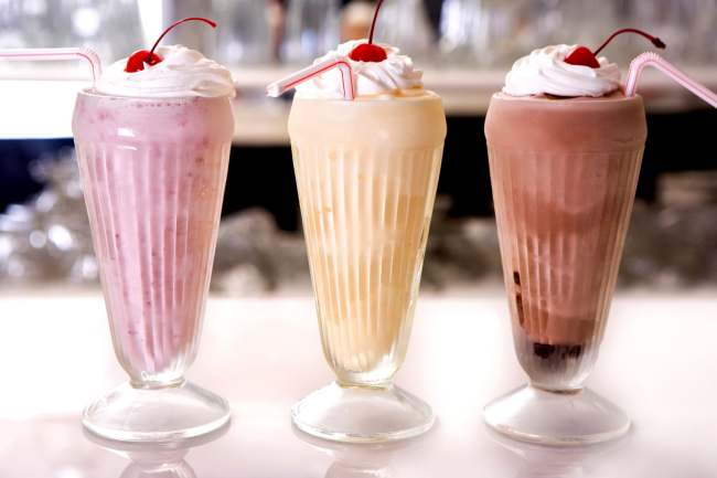 photo of milkshakes
