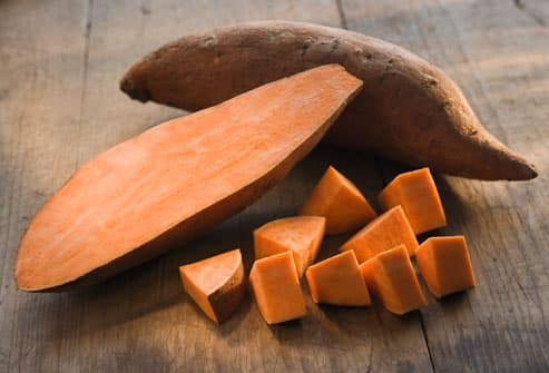 Sliced Raw Yam