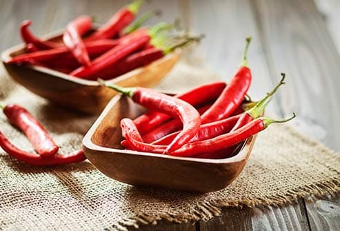 chili peppers in bowl