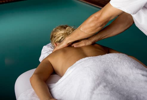 Woman With MS Getting Massage