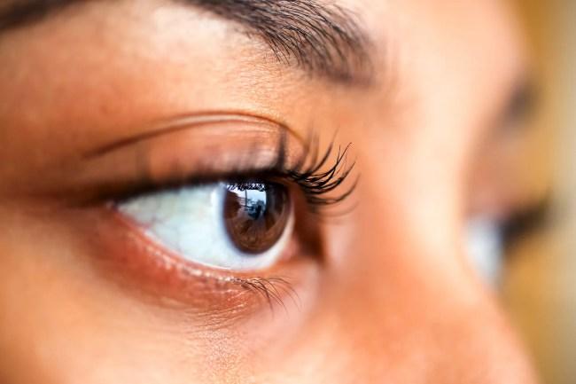 photo of eye close up