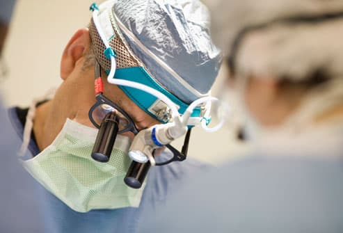 Sciatica surgery in progress