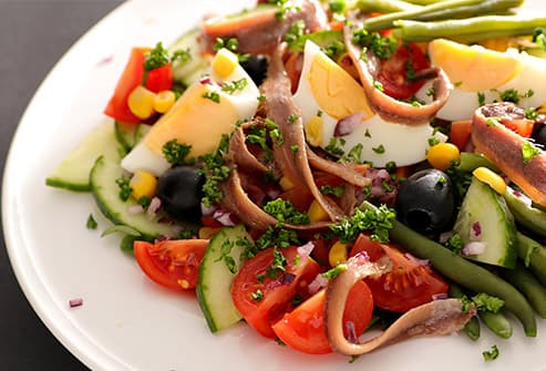 salad with anchovies