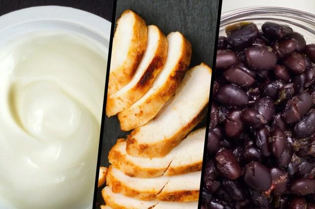protein foods triptych