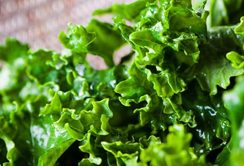 chopped kale in colander