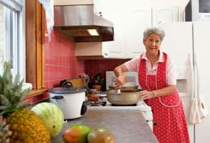 Rehabilitated Stroke Patient Cooking at Home
