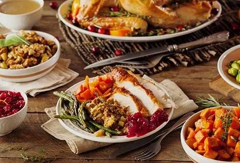 holiday dinner spread