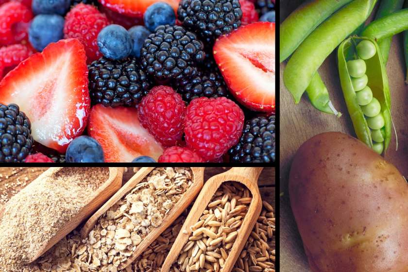 fruits vegetables grains triptych