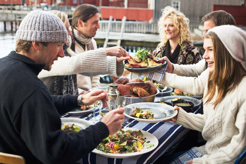 nordic meal outdoors