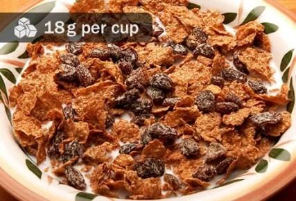 bowl of raisin bran
