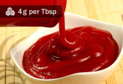 pouring ketchup into bowl