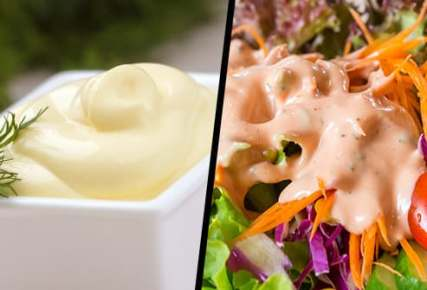 salad dressing and mayonnaise diptych