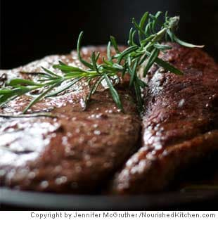 Picture of Braised Steak with Red Wine & Rosemary