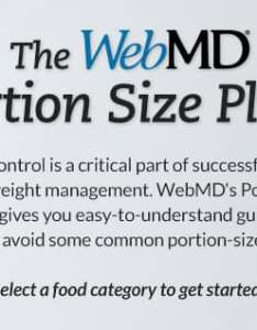 Portion size plate also recommended serving sizes for control rh webmd