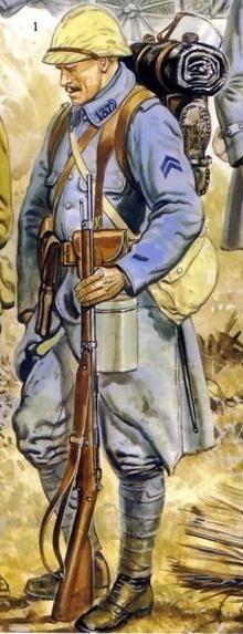CARROSoTANQUES  Uniformes Primera Guerra Mundial Franceses