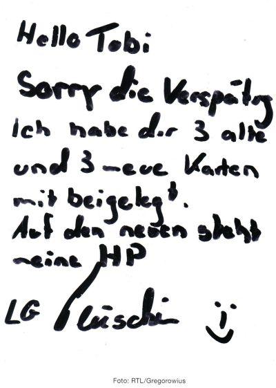 meine DSDS RTL-Autogrammkarten => Autogramme und