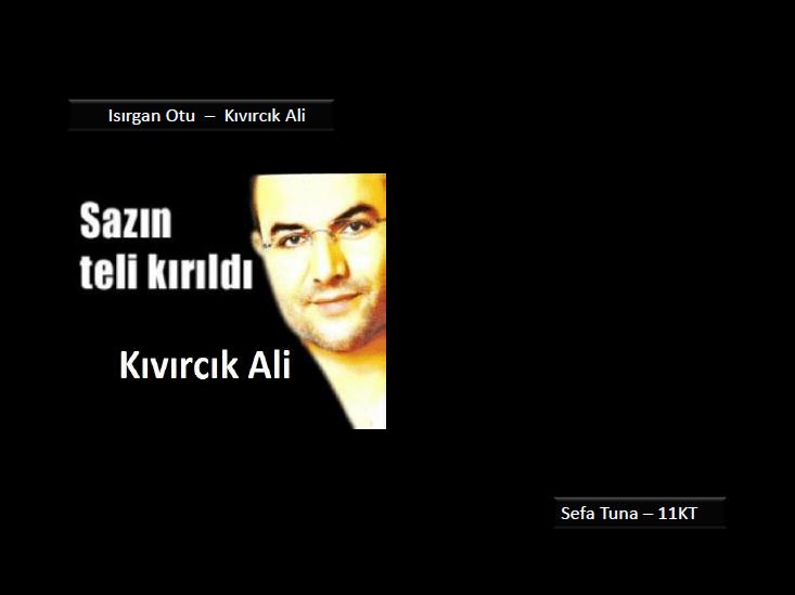 Isırgan Otu, Sefa Tuna, Kıvırcık Ali