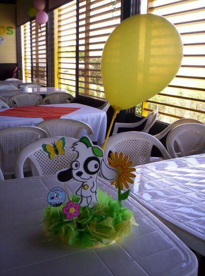Fiestas infantiles y ms  Centros de mesa personajes