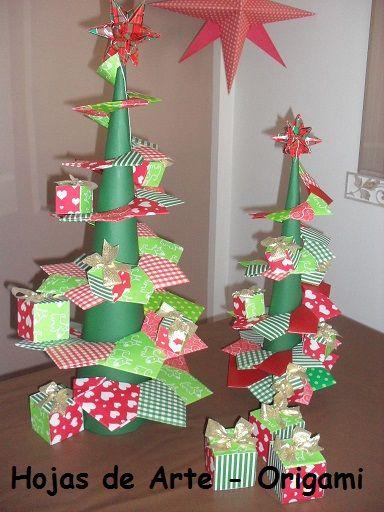 Hojas de Arte  ORIGAMI  Navidad  Christmas