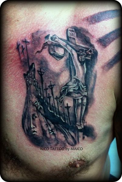 NICO TATTOO  Inri  angels