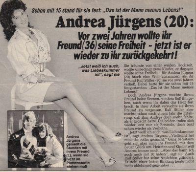 Andrea Jrgens  GedenkPage  Boulevard  Presse