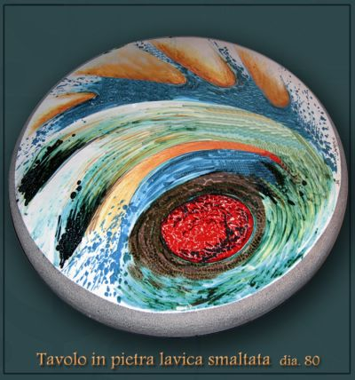 ceramica artistica  Raku  scultura  Sicilia  Tavoli