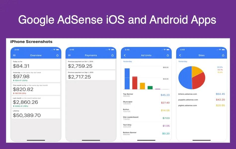 Google AdSense для iOS и Android