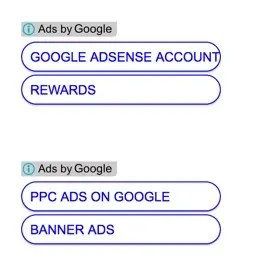 AdSense Vertical Link Unit Ads