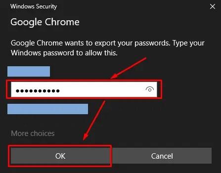 Entering Admin Password