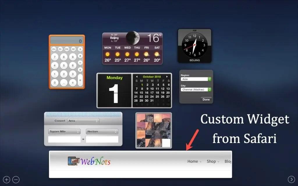 Пользовательский виджет на панели инструментов