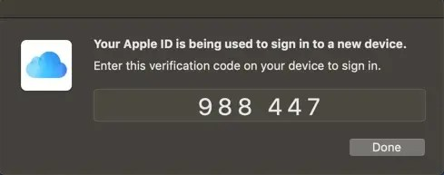 Код двухфакторной проверки Apple ID