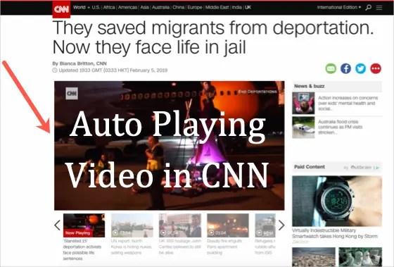 Автовоспроизведение видео в CNN