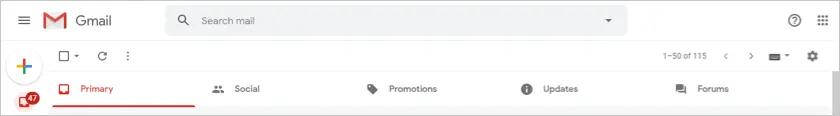 Все вкладки Gmail