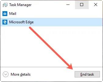 Завершить задачу в диспетчере задач Windows
