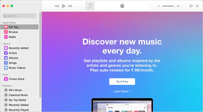 Приложение Apple Music