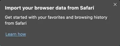 Импорт данных из Safari