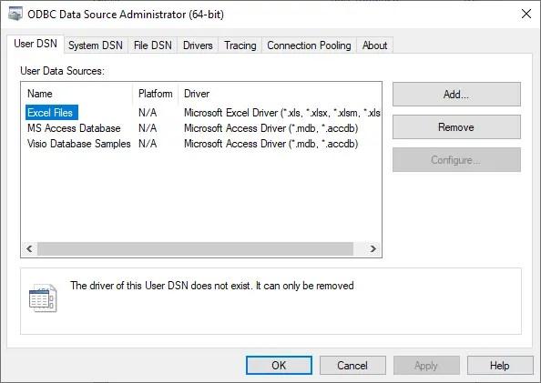 Администратор источника данных ODBC (64-разрядная версия)