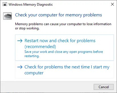 Диагностика памяти Windows